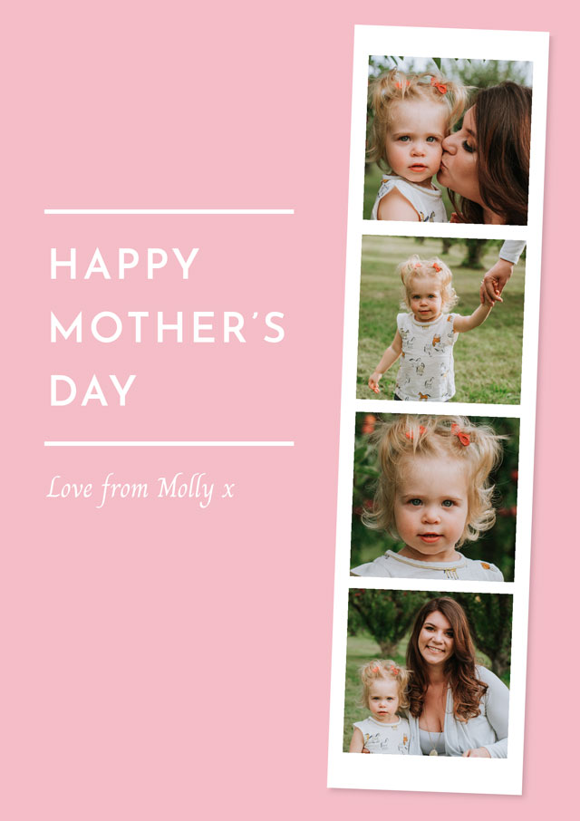Create Photo Mother's Day Card Photo Strip Card