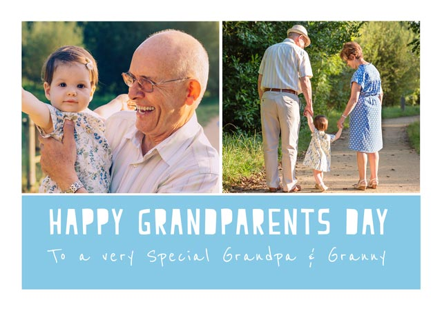 Happy Grandparents Day Cut Out Text
