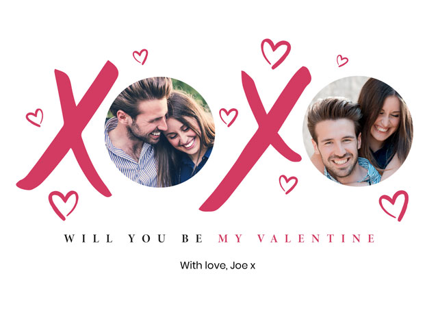 Create Photo Card Valentines Xx Card