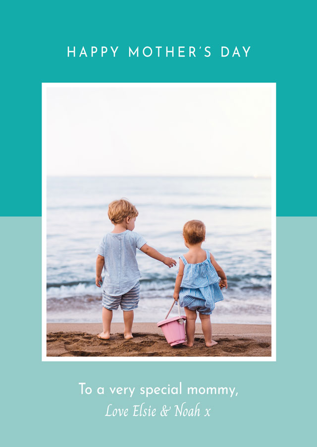Create Photo Mother's Day Card Two Tone Card