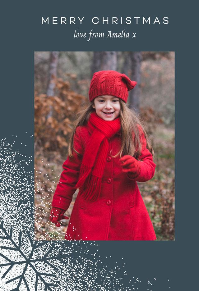 Create Snowflake Style Personalised Christmas Card Card