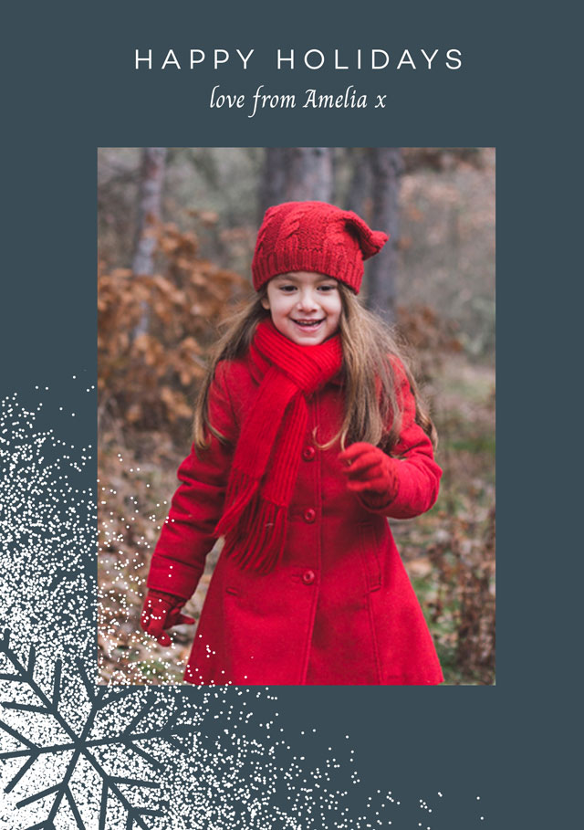 Create Seasonal Snowflakes Personalized Holiday Card Card