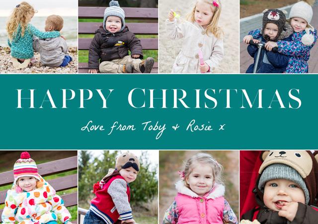 Festive Collage | Landscape Photo Christmas Card
