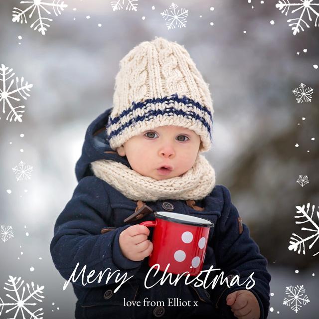 Snowflake Greetings Personalised Christmas Card