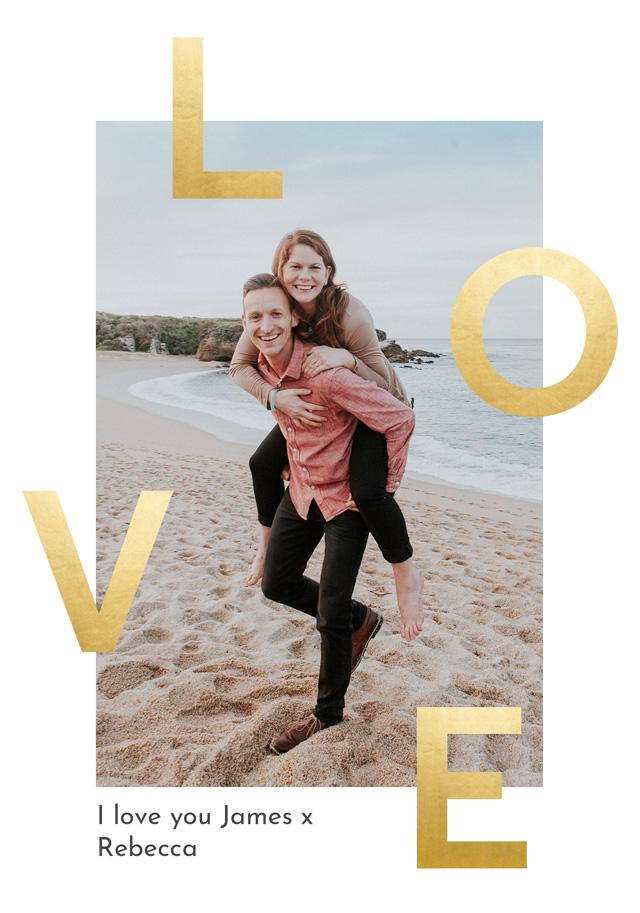 Create Photo Card Love Foil Effect Card