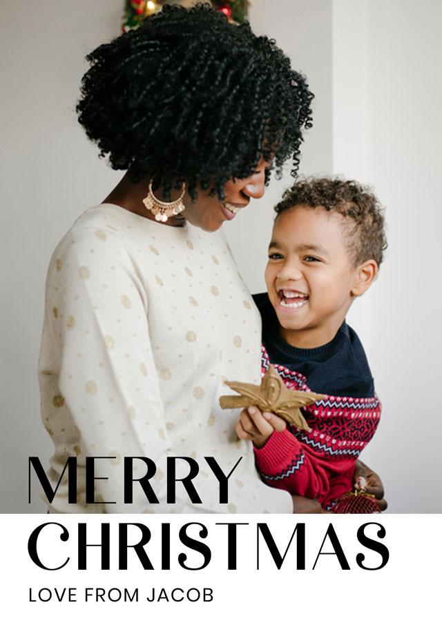 Create Modern Personalised Christmas Card Card