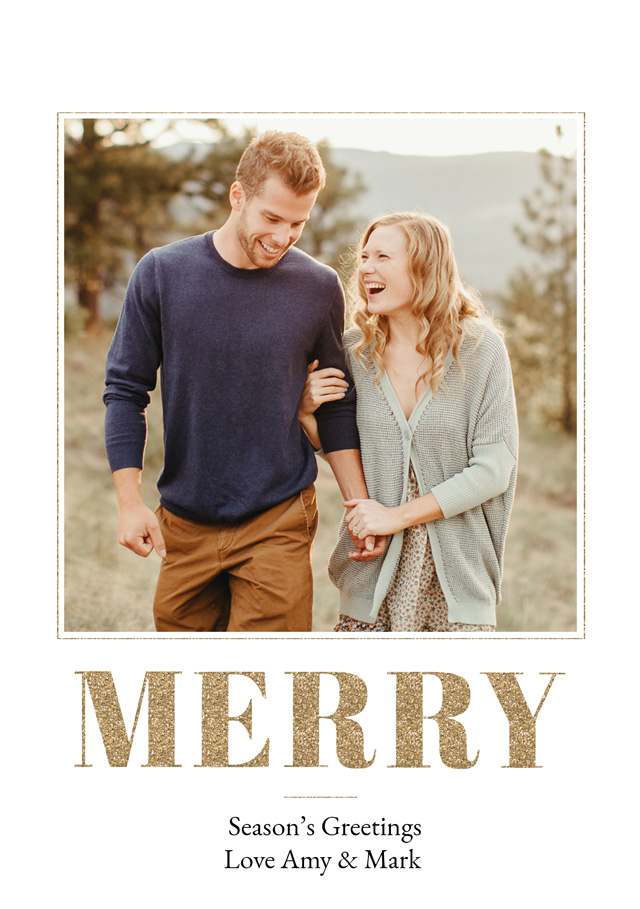 Merry Personalised Christmas Card