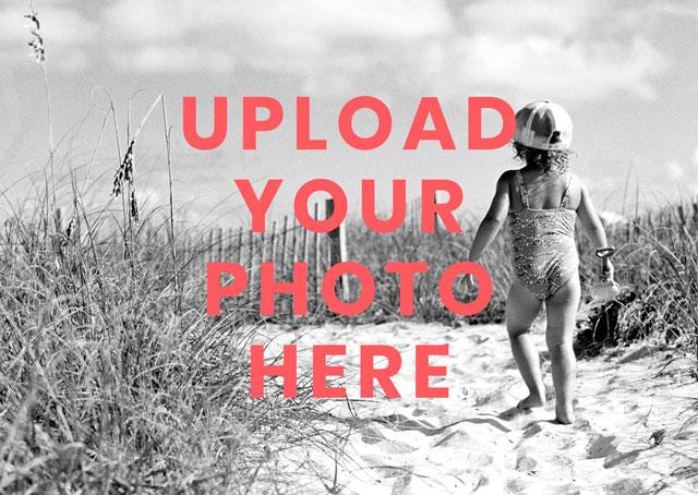 Create Landscape Photo Card Card