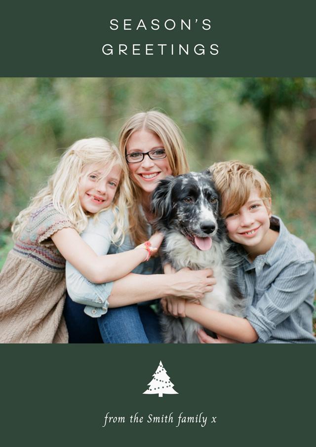 Create Seasons Greetings Personalised Christmas Card Card