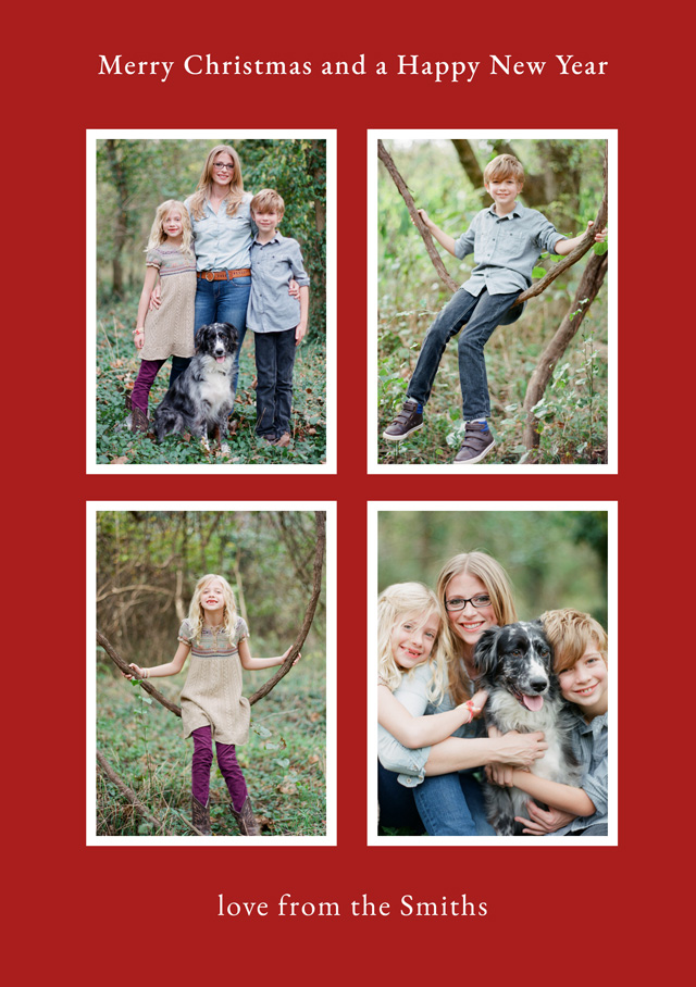 Elegant Collage | Portrait Photo Christmas Card