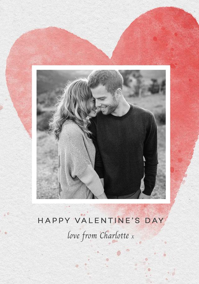 Photo Card Valentines Huge Heart