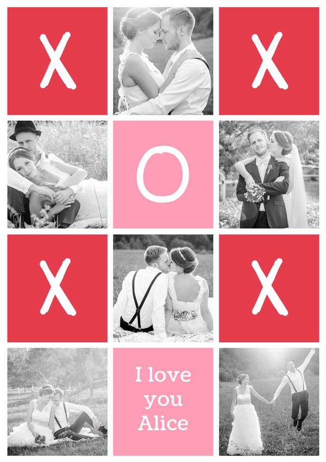 Create a Photo Card Love Oxox Photo Card