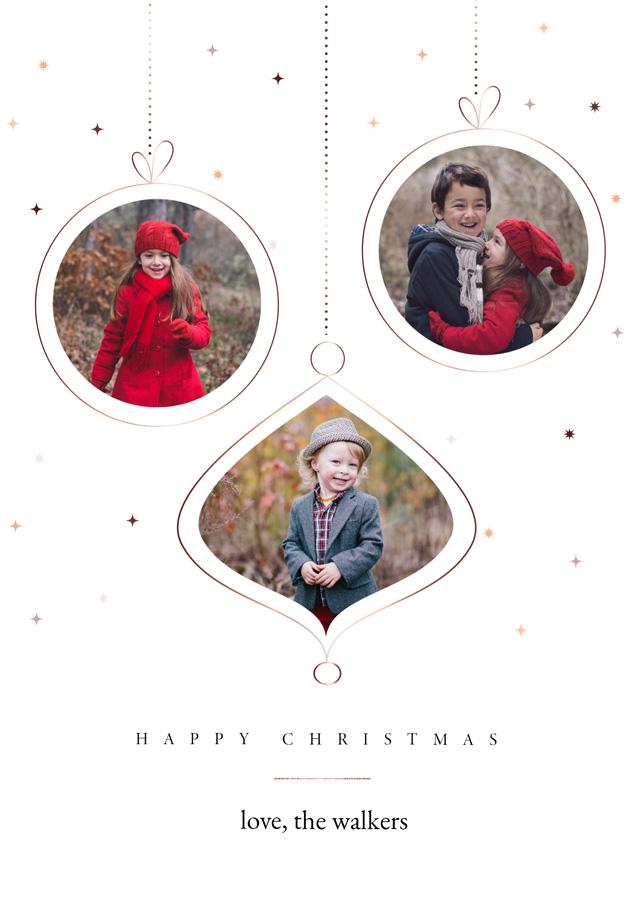 Baubles | Portrait Photo Christmas Card