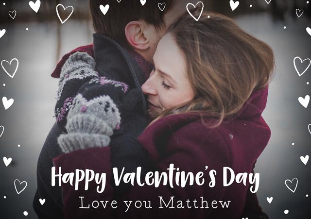 Photo Card Valentines Hearts