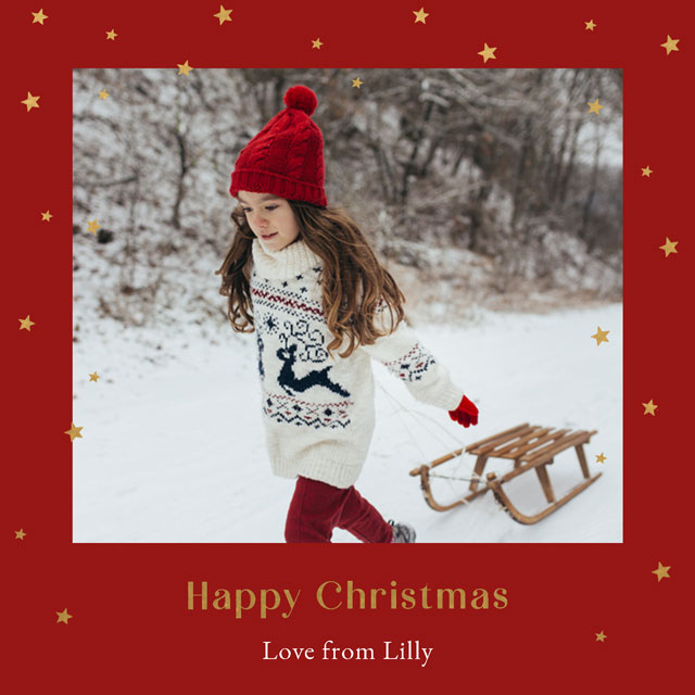 Create Traditional Frame Personalised Christmas Card Card