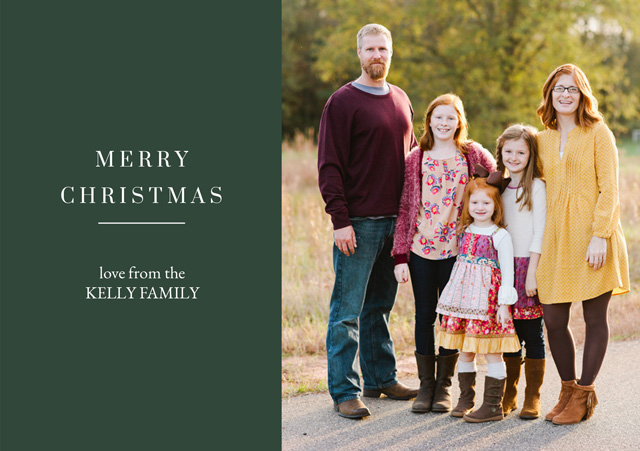 Personalised Family Christmas Cards 2020